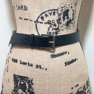 MARC JACOBS Black Textured Genuine Leather Belt *8